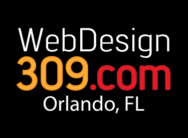 The logo for the WebDesign309.com office in Orlando FL