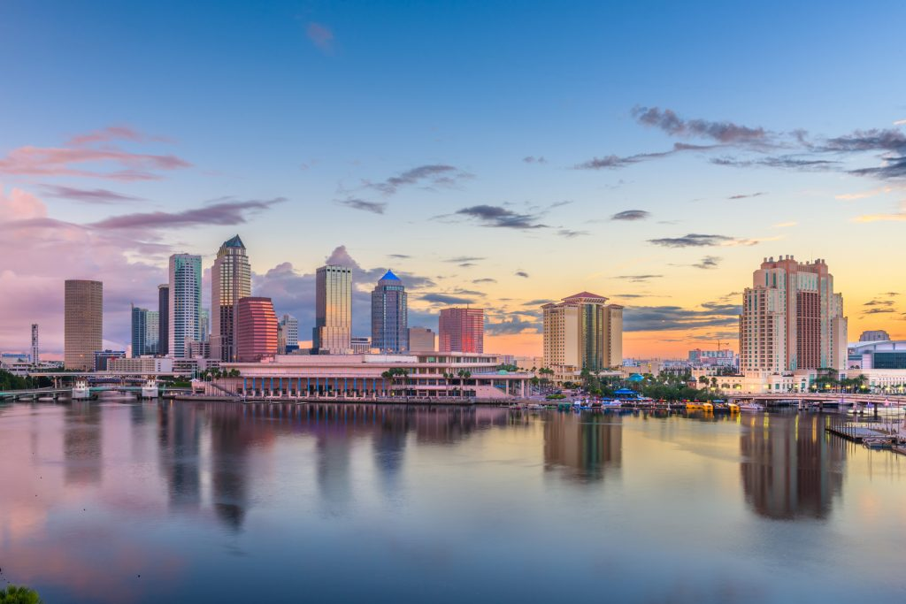 Downtown Tampa FL view from the Tampa Bay, home of the best local web design company, WebDesign309