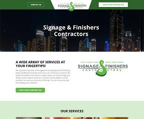 Signage and Finishers